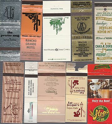 Lot Of 20 Different Florida Matchbook Covers.  #2