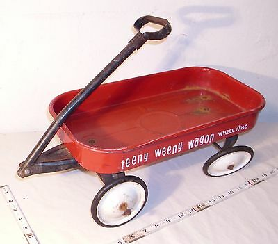 Teeny Weeny Pressed Steel Coaster Pull Wagon By Wheel King