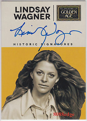 "2014 Panini Golden Age Auto: Lindsay Wagner - On Card Autograph ""bionic Woman"""