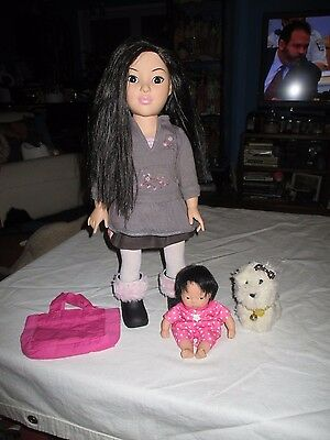 "Madame Alexander 18"" Play Doll-Asian Ethnic-Vinyl American Girl Clothes Coconut"