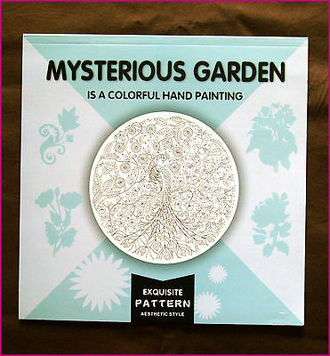 MYSTERIOUS GARDEN ADULT COLOURING 3 - Colour-in 24 Designs Floral - NEW BOOK