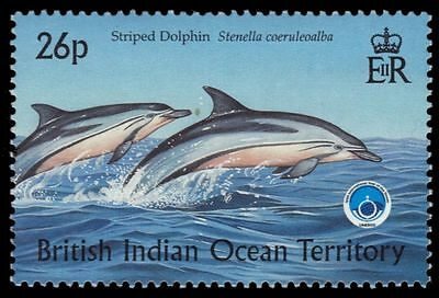 """BR INDIAN OCEAN 203 - Year of the Ocean """"Striped Dolphin"""" (pa52419)"""