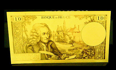 "★★ Billet Polymer  ""or "" Du 10 Francs Voltaire ● Destockage ★★ Ref4 ★★"