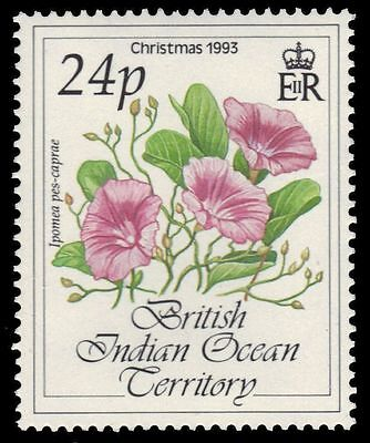 """BR INDIAN OCEAN 142 (SG142) - Christmas Flowers """"Ipomea pes-caprae"""" (pa16240) NH"""