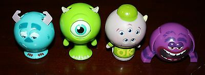 LOT 4 Monsters University Roll A Scare Balls MIKE, SQUISHY, SULLEY & ART PURPLE