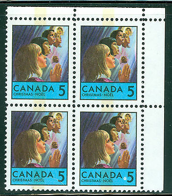1969 Christmas Issue 5 Cent Children Praying - PB UR - Tagged Uni#502p