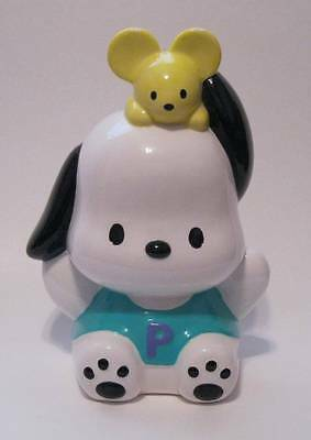 Vintage Sanrio POCHACCO & Mouse Ceramic Coin Piggy Bank 7 1/2""
