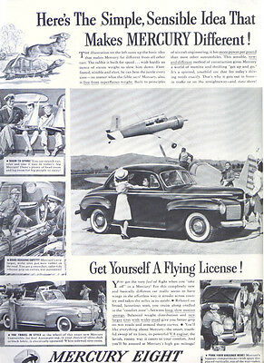 Get Yourself A Flying License! Mercury ad 1941