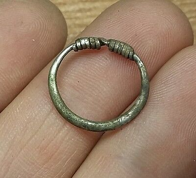 1pc. ANCIENT CELTIC SILVER COILED  RING   #2134
