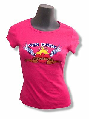 Van Halen! Forever Yours/heart Pink Babydoll T-Shirt M