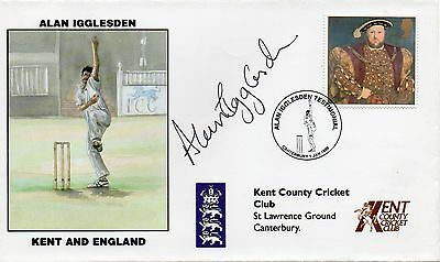 Great Britain 1998  Kent County Cricket Club cover signed Alan Igglesden