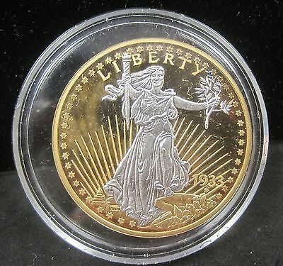 1933 Gold in Color Double Eagle Fantasy Coin - K212-2