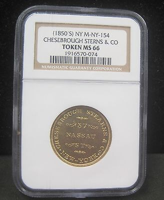 (1850's) Chesebrough Stearns & Co., New York, NY, Miller-NY-154, NGC MS66 - 074