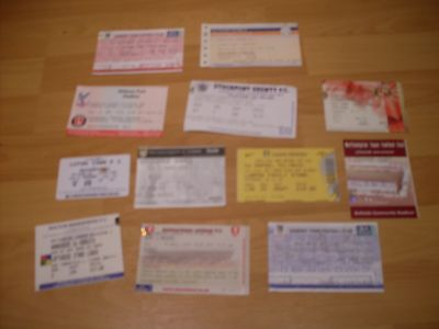 12 match day tickets all different