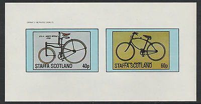 GB Locals - Staffa (1076) 1982 BICYCLES  imperf sheetlet unmounted mint