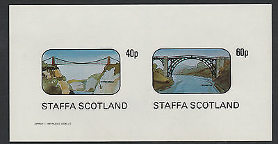 GB Locals - Staffa (1078) 1982 BRIDGES imperf sheetlet unmounted mint