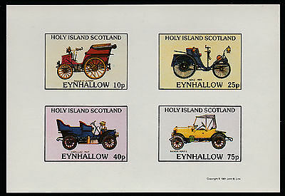 GB Locals - Eynhallow (1084) 1981 VINTAGE CARS imperf sheetlet unmounted mint