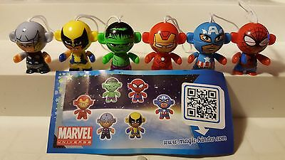 Marvel Twistheads China, Kinder, compl. set with all Bpz