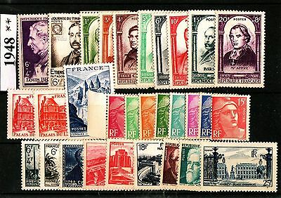 Annee 1948 - Complete - Timbres Neufs ** Cote 65 Eur - Idee Cadeau