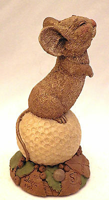 """Tim Wolfe animal - """"Chi Chi"""", a mouse on a Golf ball lookout - edition #57"""