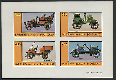 GB Locals - Eynhallow (1086) 1981 VINTAGE CARS imperf sheetlet unmounted mint