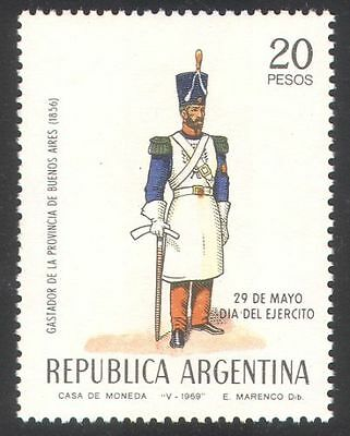 Argentina 1969 Army Day/Military/Soldiers/Uniforms/Weapons 1v (n39625)