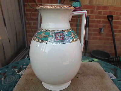 "Antique 1870s Thomas Booth & Sons "" Cleopatra "" Jug with Cherubs Riding on Fish"