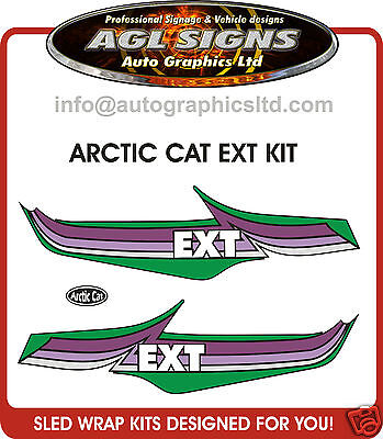 ARCTIC CAT EXT KIT, decal graphic REPRODUCTIONS
