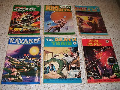 Combat Picture Library x 5 & Adventure Library x 1: Vintage.
