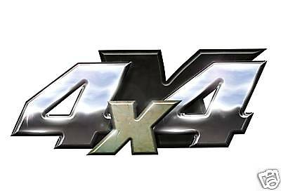Chrome Look 4X4 Decal, Designed To Fit Dodge Ford Chev