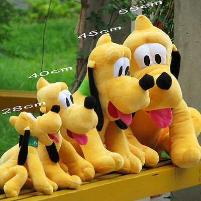 28 40 45 50cm Disney Pluto Plush Stuffed Animals Dog Baby Toys Soft Dolls Hound