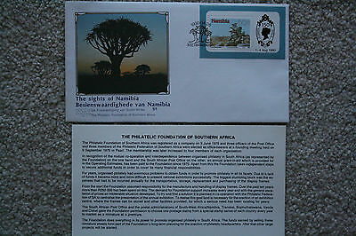 """the Sights Of Namibia"" Namibian Commemorative Stamp Cover"