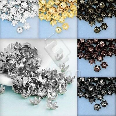 10g Cone Flower End Bead Caps Spacer Craft Jewelry Findings Lots DIY 7x7x3.5mm