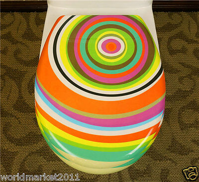 New European Style High-grade Colorful Printing Resin Home Bathroom Toilet Seat