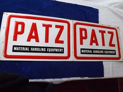 Patz Metal Sign Advertising Material Handling Equipment Agricultural Farm Supply