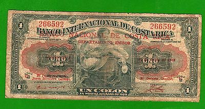 Costa Rica  Banco Nacional   1 colon 1943