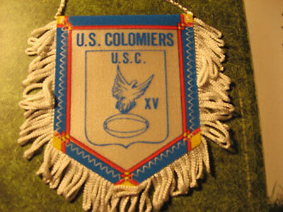 Fanion Tissu Pennant Vintage Rugby Us Colomiers