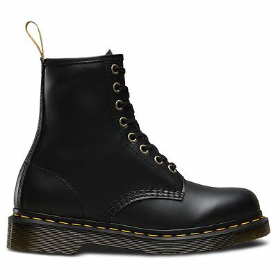 Dr.Martens Vegan 1460 Felix Rub Off 8 Eyelets Black Womens Boots