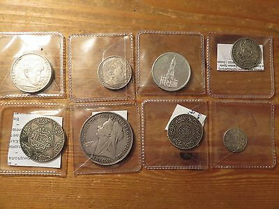 1895-1940 Mixed Vintage Silver Coins Lot,8 pieces