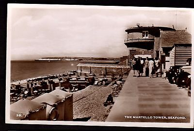 Postcard ~ THE MARTELLO TOWER Sussex SEAFORD ~ 1940s