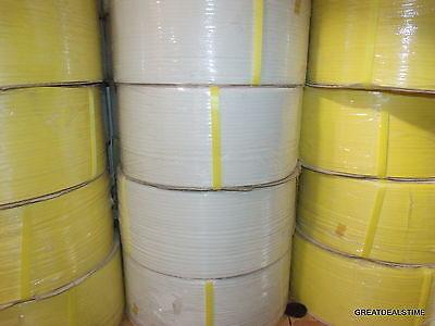 """Poly Strap Plastic Strapping 1/4"""" x 0.22 x 18,000 Ft 8 x 8 Machine Grade Roll ##"""