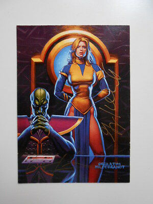 Star Wars rare signed Greg and Tim Hildebrandt ( blonde girl) card  w/ COA