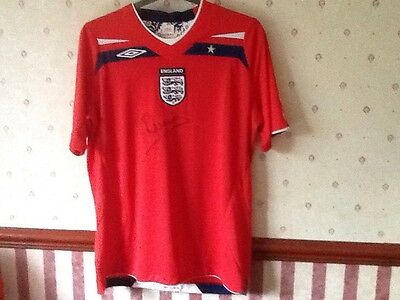 Michael Owen Authentic Signed England Shirt Size Large Brand New