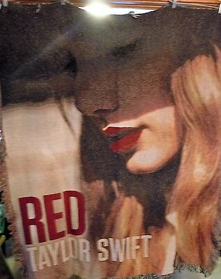 Taylor Swift Red 2012 Album Cover Lightweight Throw Blanket 60x48 Rare