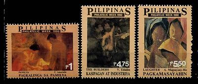 17-01-05154 - Philippines 1990 Mi.  1995-1997 MNH 100% Art Culture painting