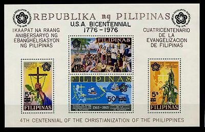17-01-05109 - Philippines 1976 Mi.  Bl. 9 a SS 100% MNH 4 TH CENTENNIAL OF THE C