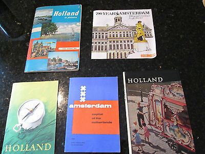 Vintage Holland Travel Booklets Amsterdam lot of 5 1950s and 1960s
