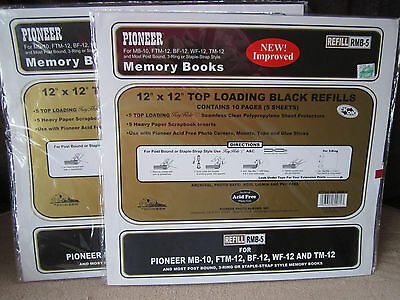 """7 Pack (35 Sheets) Pioneer REFILL Pages 12""""x12"""" Memory Books Top Load SEALED"""