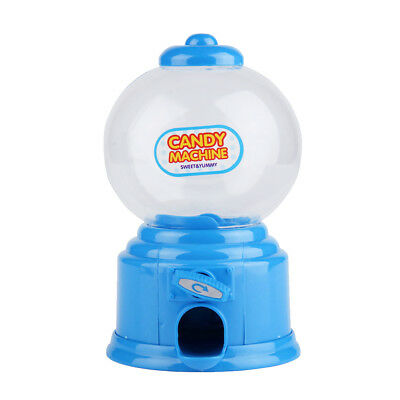 Blue Practical Candy Dispenser Machine Gumball Ball Snacks Storage Box