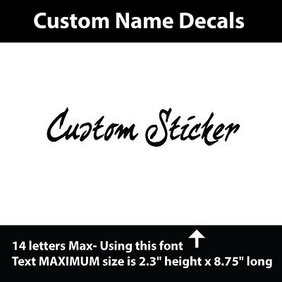 Your CUSTOM Vinyl lettering for any smooth surface, crafts, cars, truck